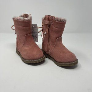 Cat & Jack Toddler Girls Winter Boots Size 5 Pink Salmon
